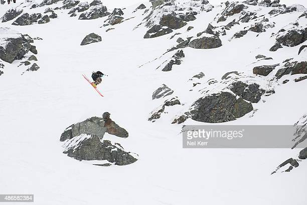 Taylor Seaton of USA competes in the Big Mountain Finals during The Freeski Open NZ at The Remarkables on September 4 2015 in Queenstown New Zealand