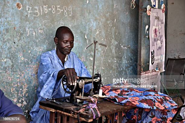 Taylor sewing in Segou, Mali, 2009