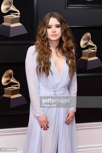 Taylor Spreitler attends the 60th Annual GRAMMY Awards Arrivals at Madison Square Garden on January 28 2018 in New York City