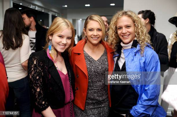 Taylor Spreitler Melissa Joan Hart and Heather Dawn attend [Concept] St John Art Of Elysium Event on March 23 2011 in West Hollywood California