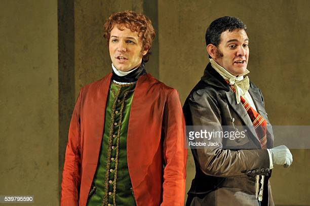 Taylor Stayton as Don Ramiro and Armando Noguera as Dandini in Glyndebourne's production of Gioachino Rossini's La Cenerentola directed by Peter Hall...