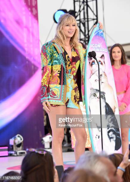 Taylor Swift accepts the Teen Choice Icon Award onstage during FOX's Teen Choice Awards 2019 on August 11 2019 in Hermosa Beach California