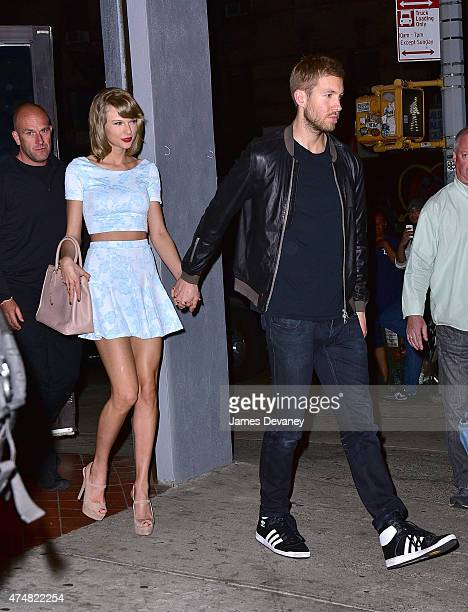Taylor Swift and Calvin Harris leave L'asso restaurant on May 26 2015 in New York City
