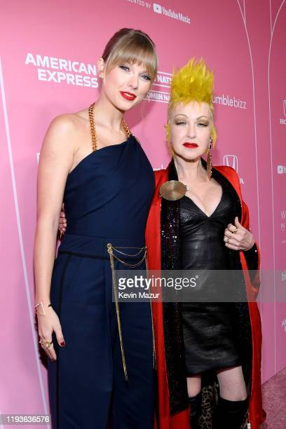 Taylor Swift and Cyndi Lauper attend Billboard Women In Music 2019, presented by YouTube Music, on December 12, 2019 in Los Angeles, California.