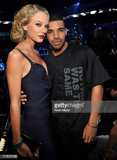 Taylor Swift and Drake attend the 2013 MTV Video Music Awards at the Barclays Center on August 25 2013 in the Brooklyn borough of New York City