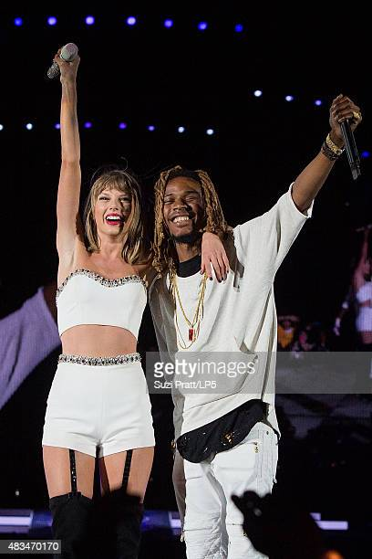 Taylor Swift and Fetty Wap at CenturyLink Field on August 8 2015 in Seattle Washington