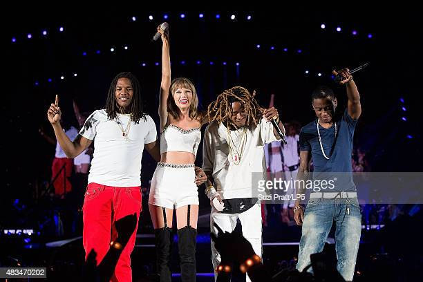 Taylor Swift and Fetty Wap perform at CenturyLink Field on August 8 2015 in Seattle Washington