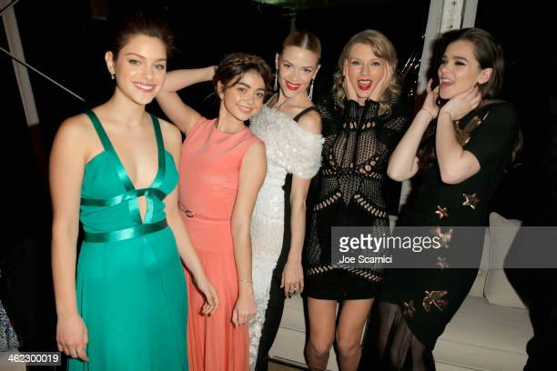 Taylor Swift and guests attend The Weinstein Company Netflix's 2014 Golden Globes After Party presented by Bombardier FIJI Water Lexus Laura Mercier...