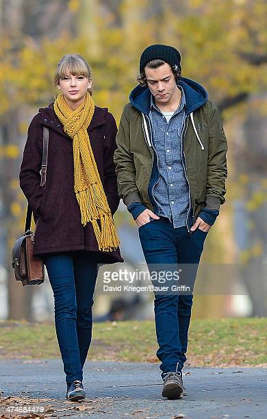 Taylor Swift and Harry Styles are seen walking around Central Park on December 02 2012 in New York City