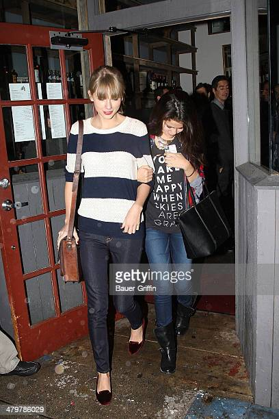 Taylor Swift and her girlfriend Selena Gomez are seen on November 17 2012 in Los Angeles California