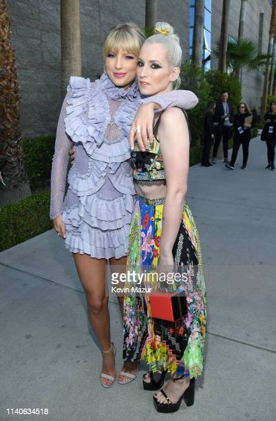 Taylor Swift and Ingrid Michaelson attend the 2019 Billboard Music Awards at MGM Grand Garden Arena on May 1 2019 in Las Vegas Nevada