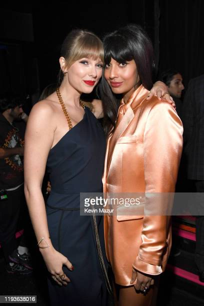Taylor Swift and Jameela Jamil attend Billboard Women In Music 2019, presented by YouTube Music, on December 12, 2019 in Los Angeles, California.