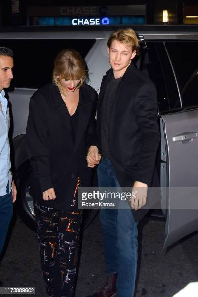 Taylor Swift and Joe Alwyn are seen at Zuma restaurant on October 6 2019 in New York City