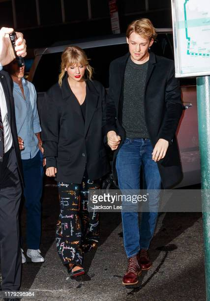 Taylor Swift and Joe Alwyn arrive at Zuma on October 06 2019 in New York City