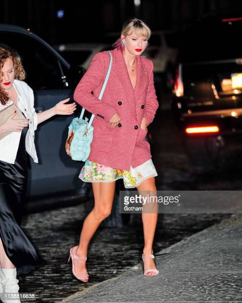 Taylor Swift and Joe Alwyn attend Gigi Hadid's Birthday Party on April 22 2019 in New York City