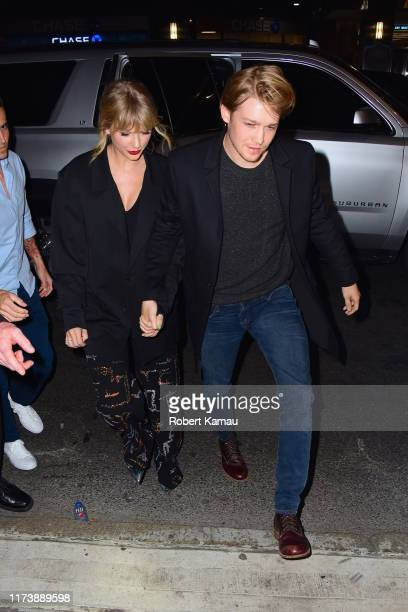 Taylor Swift and Joe Alwyn attend the Saturday Night Live's afterparty at Zuma restaurant on October 6 2019 in New York City