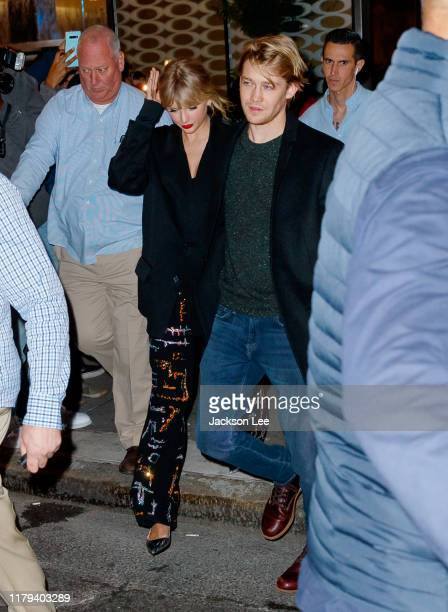 Taylor Swift and Joe Alwyn depart Zuma on October 06 2019 in New York City