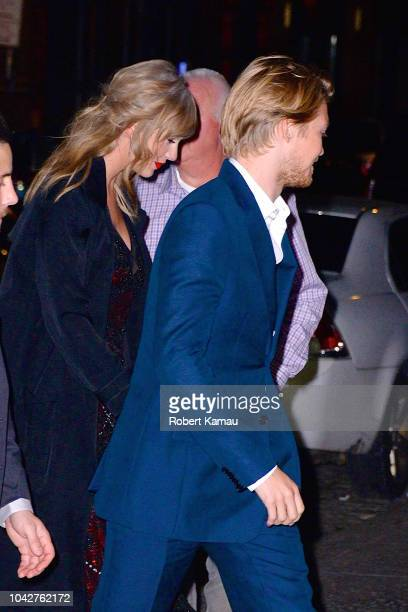 Taylor Swift and Joe Alwyn seen out and about in Manhattan on September 28 2018 in New York City