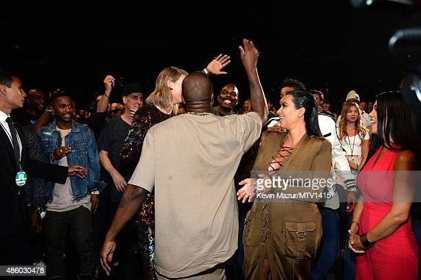 Taylor Swift and Kanye West attend the 2015 MTV Video Music Awards at Microsoft Theater on August 30 2015 in Los Angeles California
