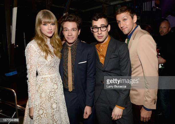 Taylor Swift and Nate Ruess Jack Antonoff and Andrew Dost of fun attend The GRAMMY Nominations Concert Live held at Bridgestone Arena on December 5...