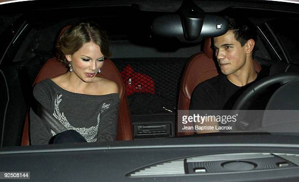 Taylor Swift and Taylor Lautner sighting at the AliceOlivia Boutique on Robertson Blvd on October 28 2009 in Los Angeles California