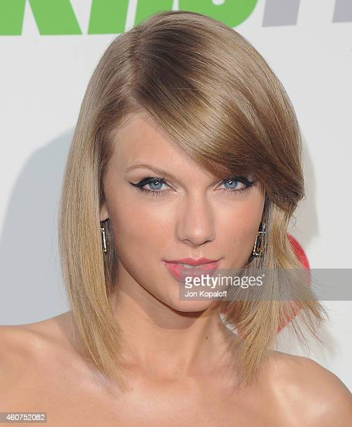Taylor Swift arrives at KIIS FM's Jingle Ball 2014 at Staples Center on December 5 2014 in Los Angeles California