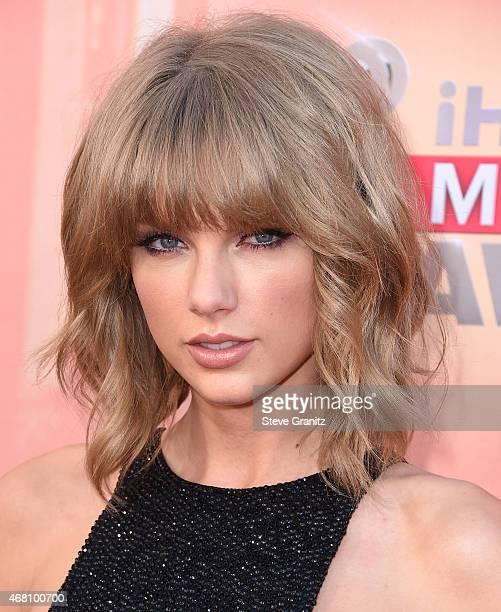 Taylor Swift arrives at the 2015 iHeartRadio Music Awards at The Shrine Auditorium on March 29 2015 in Los Angeles California