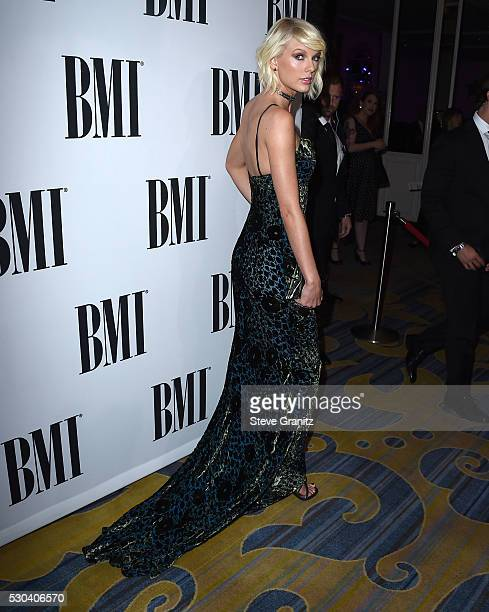 Taylor Swift arrives at the 64th Annual BMI Pop Awards at the Beverly Wilshire Four Seasons Hotel on May 10 2016 in Beverly Hills California
