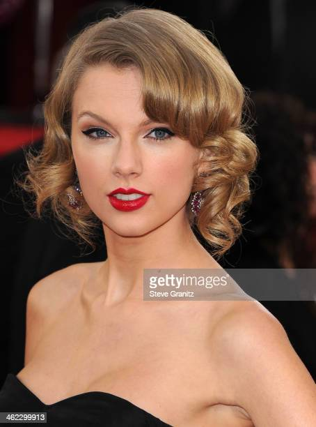 Taylor Swift arrives at the 71st Annual Golden Globe Awards at The Beverly Hilton Hotel on January 12 2014 in Beverly Hills California