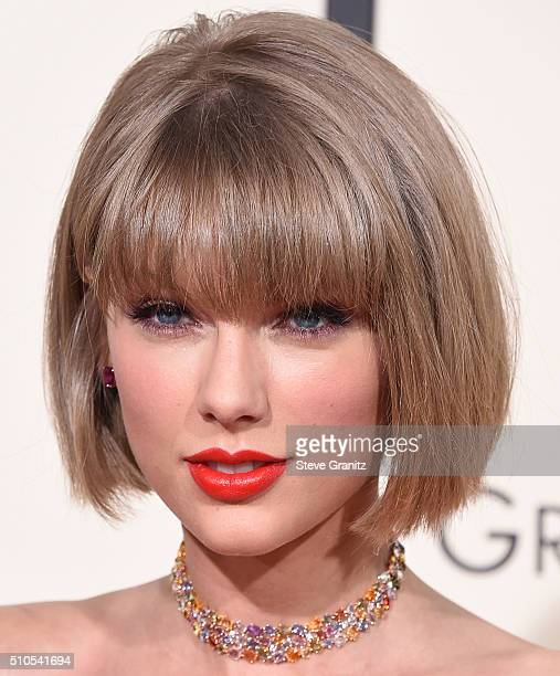 Taylor Swift arrives at the The 58th GRAMMY Awards at Staples Center on February 15 2016 in Los Angeles City