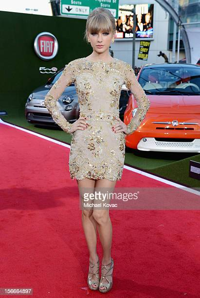 Taylor Swift at Fiat's Into The Green during the 40th American Music Awards held at Nokia Theatre LA Live on November 18 2012 in Los Angeles...