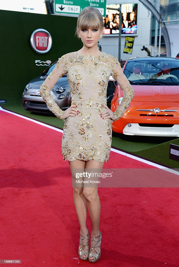 Taylor Swift at Fiat's Into The Green during the 40th American Music Awards held at Nokia Theatre L.A. Live on November 18, 2012 in Los Angeles, California.