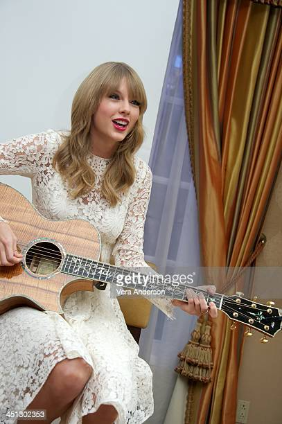 Taylor Swift at the One Chance Press Conference at the Four Seasons Hotel on November 21 2013 in Beverly Hills California
