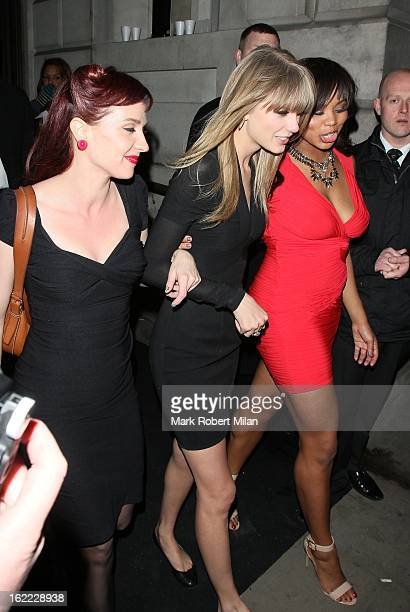Taylor Swift at the Universal records Soho House PopUp BRITs aftershow party on February 20 2013 in London England