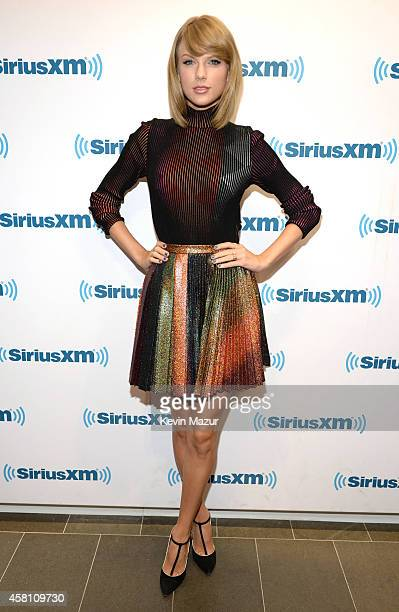 Taylor Swift attends '1989' 'Town Hall' airing live on SiriusXM Hits 1 at SiriusXM Studios on October 29 2014 in New York City