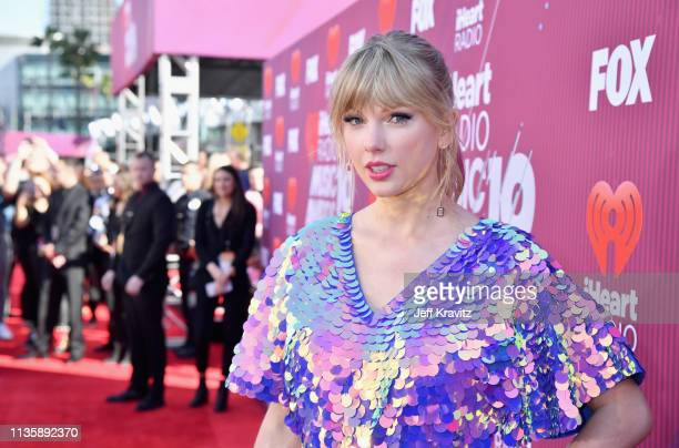 Taylor Swift attends the 2019 iHeartRadio Music Awards which broadcasted live on FOX at Microsoft Theater on March 14 2019 in Los Angeles California
