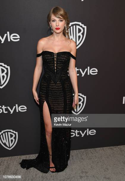 Taylor Swift attends the 2019 InStyle and Warner Bros. 76th Annual Golden Globe Awards Post-Party at The Beverly Hilton Hotel on January 6, 2019 in...