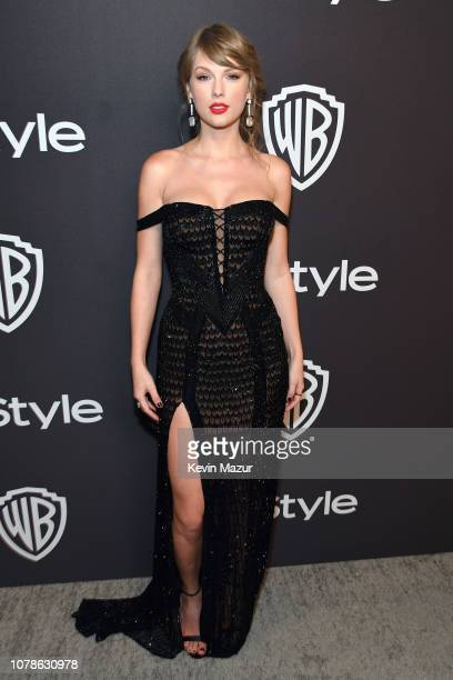 Taylor Swift attends the 2019 InStyle and Warner Bros 76th Annual Golden Globe Awards PostParty at The Beverly Hilton Hotel on January 6 2019 in...