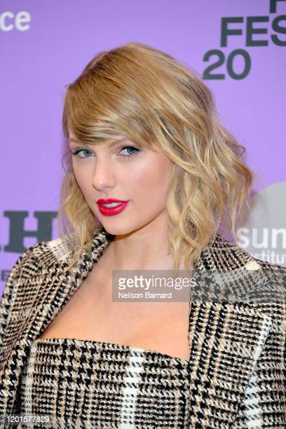 Taylor Swift attends the 2020 Sundance Film Festival Miss Americana Premiere at Eccles Center Theatre on January 23 2020 in Park City Utah