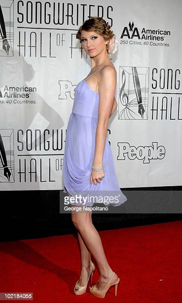 Taylor Swift attends the 41st annual Songwriters Hall of Fame at The New York Marriott Marquis on June 17 2010 in New York City