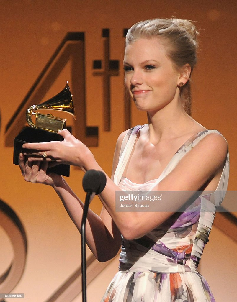 Taylor Swift attends The 54th Annual GRAMMY Awards Pre-Telecast at Los  Angeles Convention Center