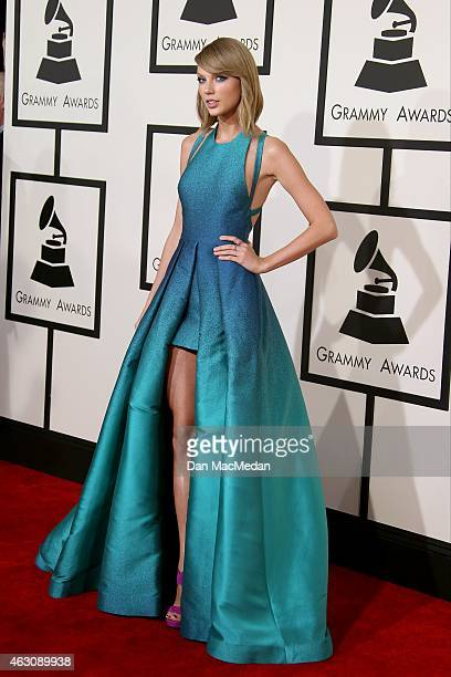 Taylor Swift attends The 57th Annual GRAMMY Awards at the STAPLES Center on February 8 2015 in Los Angeles California