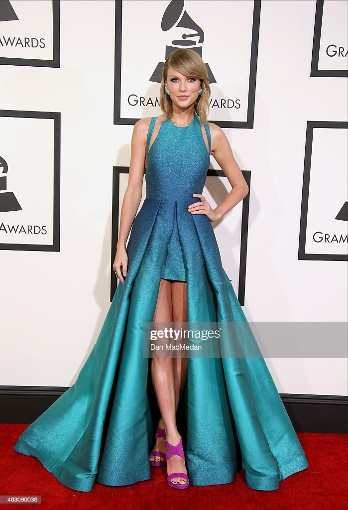 Taylor Swift attends The 57th Annual GRAMMY Awards at the STAPLES Center on February 8, 2015 in Los Angeles, California.