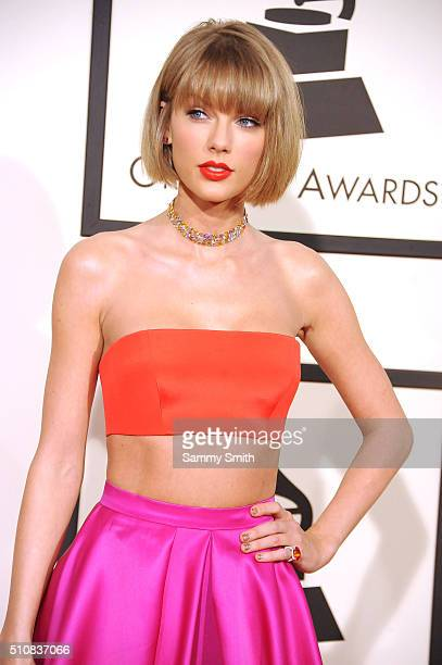 Taylor Swift attends the 58th GRAMMY Awards at Staples Center February 15 2016 in Los Angeles California