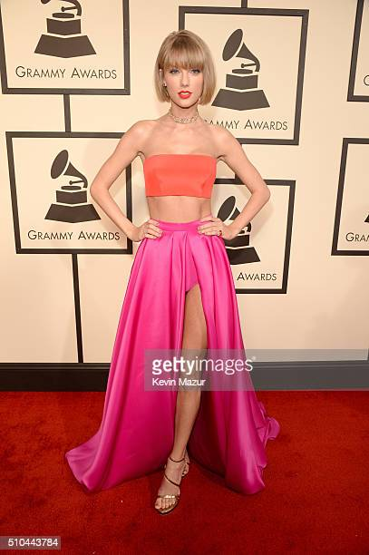 Taylor Swift attends The 58th GRAMMY Awards at Staples Center on February 15 2016 in Los Angeles California