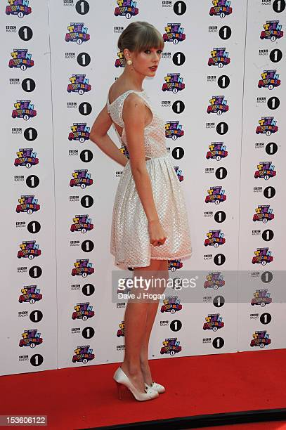 Taylor Swift attends the BBC Radio 1 Teen Awards 2012 at Wembley Arena on October 7 2012 in London England
