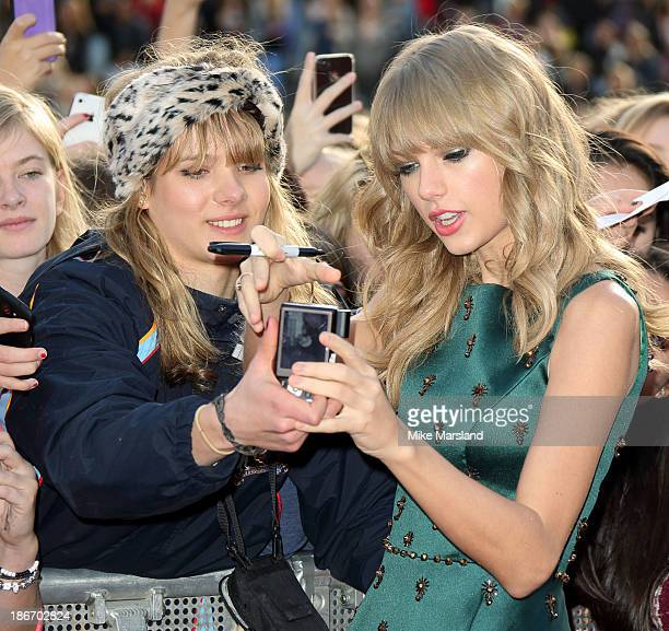 Taylor Swift attends the BBC Radio 1 Teen Awards at Wembley Arena on November 3 2013 in London England