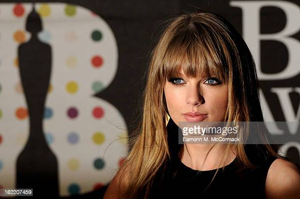 Taylor Swift attends the Brit Awards 2013 at the 02 Arena on February 20 2013 in London England