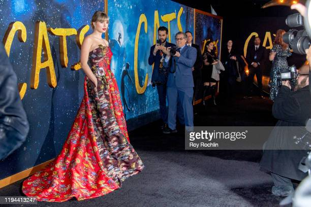 Taylor Swift attends the Cats World Premiere at Alice Tully Hall Lincoln Center on December 16 2019 in New York City