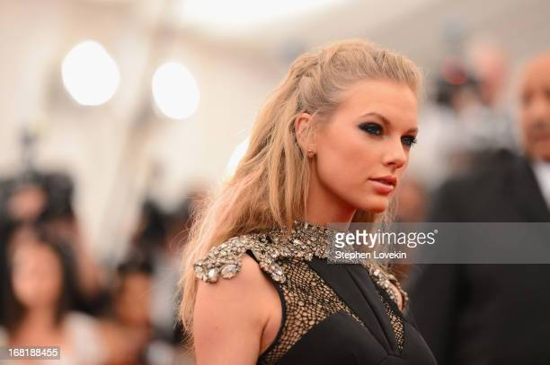 Taylor Swift attends the Costume Institute Gala for the PUNK Chaos to Couture exhibition at the Metropolitan Museum of Art on May 6 2013 in New York...